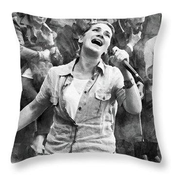 Street Singer In Florence Throw Pillow