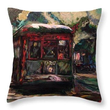 Streetcar  Throw Pillow