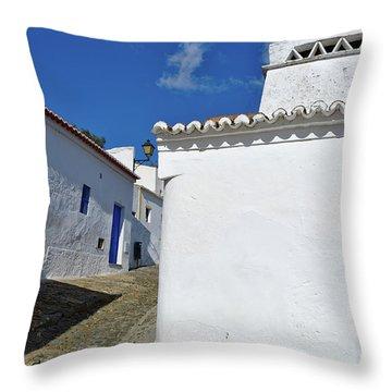Streets Of A Medieval Castle. Alentejo Throw Pillow