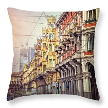 Streets Of Turin Italy  Throw Pillow