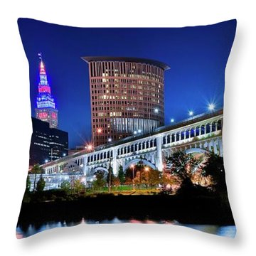 Stretching Out On A Colorful Night Throw Pillow