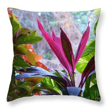 Throw Pillow featuring the photograph In The Pink by Rosanne Licciardi