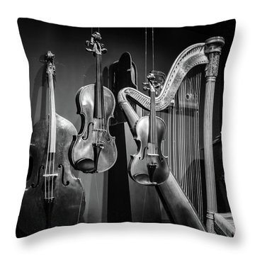 Stringed Instruments Throw Pillow