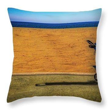 Stroller At The Beach Throw Pillow