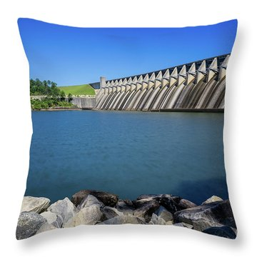 Strom Thurmond Dam - Clarks Hill Lake Ga Throw Pillow
