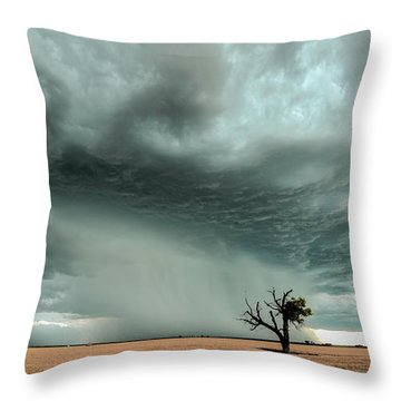 Strong Lone Tree Throw Pillow