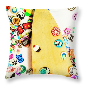 Surf Boards Throw Pillows