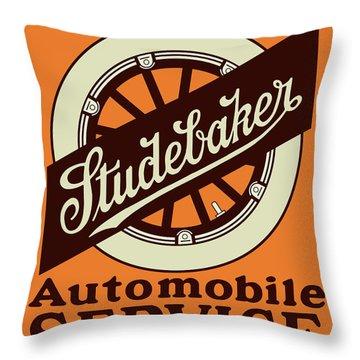 Studebaker Auto Sign Throw Pillow
