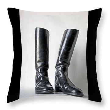 Studio. Riding Boots. Throw Pillow