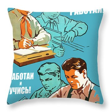 Study And Work Throw Pillow
