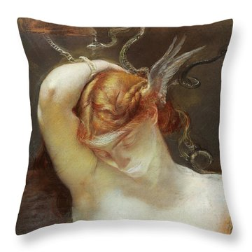 Study For The Gorgon And The Heroes Throw Pillow