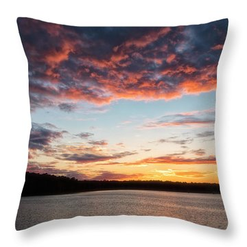 Throw Pillow featuring the photograph Stumpy Lake Sunset by Russell Pugh