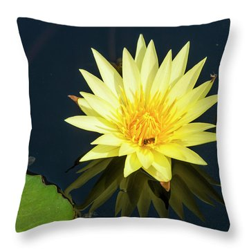 Stunning In Yellow Throw Pillow