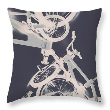 Stunt Bike Trickery Throw Pillow