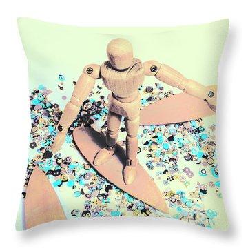 Stunt Surfer Throw Pillow