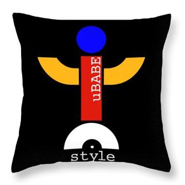 Style Black Throw Pillow