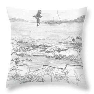 Subantarctic Island Throw Pillow