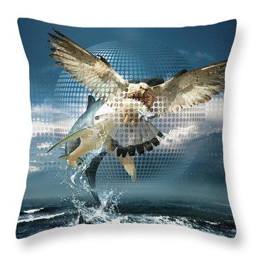 Subliminal Message Or  Optical Illusion Of Conscious Perception Throw Pillow