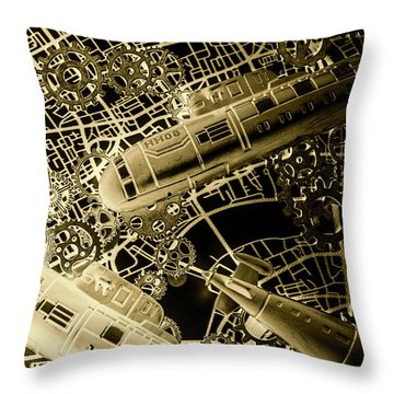 Submerged Battlefront Throw Pillow