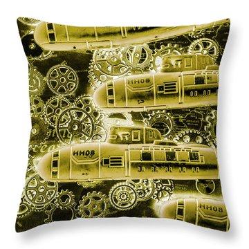 Submersible Seas Throw Pillow