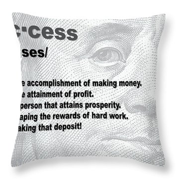 Success By Definition Throw Pillow