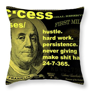 Success By High Standards Throw Pillow