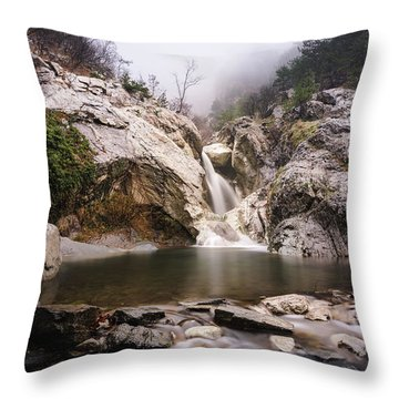 Suchurum Waterfall, Karlovo, Bulgaria Throw Pillow