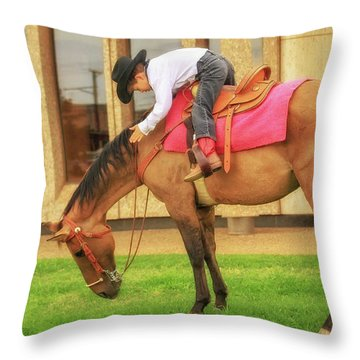 Sudden Stop Throw Pillow