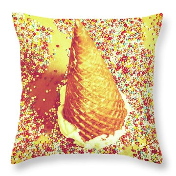 Sugar Coated Throw Pillow