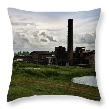 Sugar Factory I, Usine Ste. Madeleine Throw Pillow