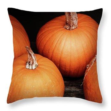 Sugar Pumpkin Quad Throw Pillow