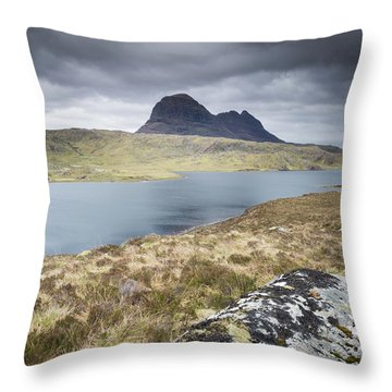 Suilven On A Stormy Day Throw Pillow