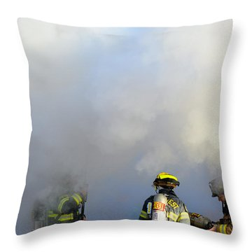 Throw Pillow featuring the photograph Suit Up by Carl Young
