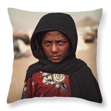 Suman Throw Pillow