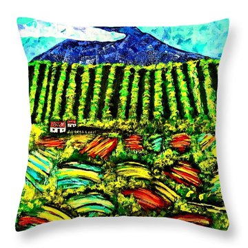 Sumatra Coffee Plantation Throw Pillow