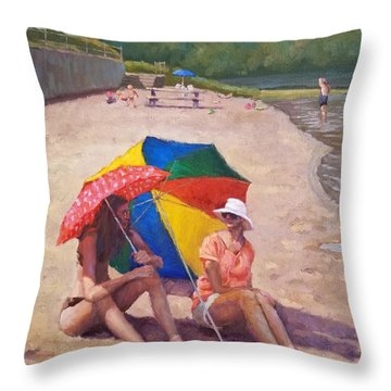 Summer At Jersey Valley Throw Pillow