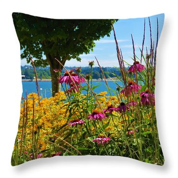 Summer Flowers Vancouver 1 Throw Pillow