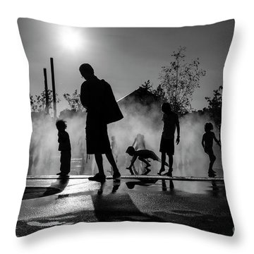 Summer In Paris Throw Pillow