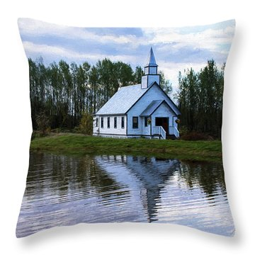 Summer In The Valley - Hope Valley Art Throw Pillow