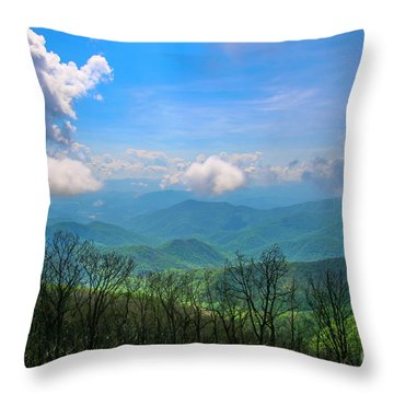 Throw Pillow featuring the photograph Summer Mountain View by Tom Claud