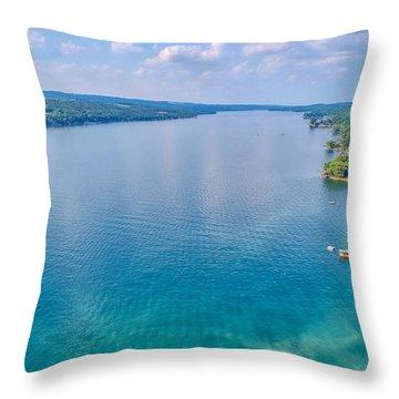 Summer On Keuka Lake Throw Pillow