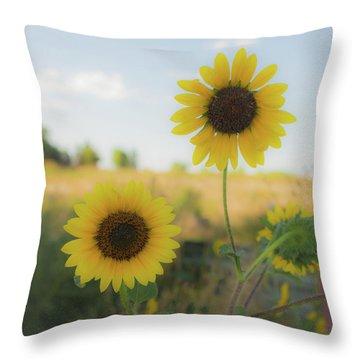 Summer Softness Throw Pillow