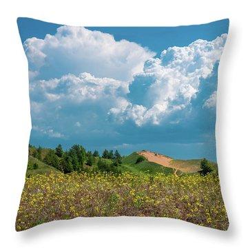 Summer Storm Over The Dunes Throw Pillow