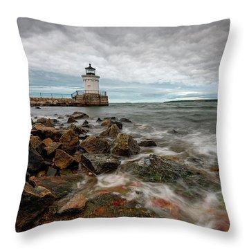 Summer Tides At Bug Light Throw Pillow