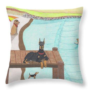 Summertime Fun Throw Pillow