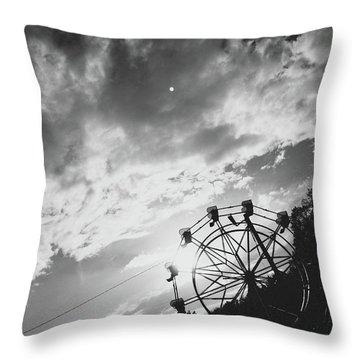Summertime Wheeling Throw Pillow