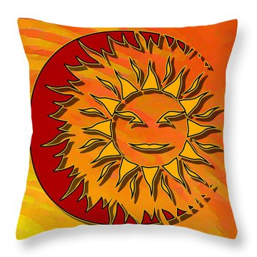 Sun Eclipsing The Moon Throw Pillow