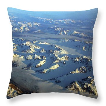 Sun Kissed Glaciers Throw Pillow