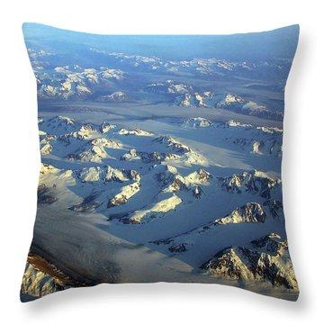 Sun Kissed Glaciers Throw Pillow