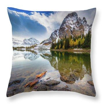 Sunburst Peak Throw Pillow